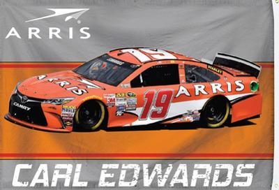 Carl Edwards 1-Sided Flag with Number