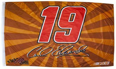 Carl Edwards One-Sided Flag with Number