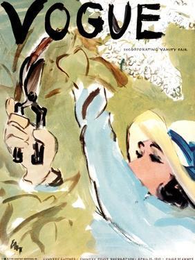"Vogue Cover - April 1936 by Carl ""Eric"" Erickson"