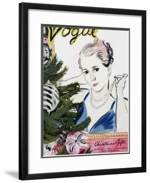 "Vogue Cover - December 1934 by Carl ""Eric"" Erickson"