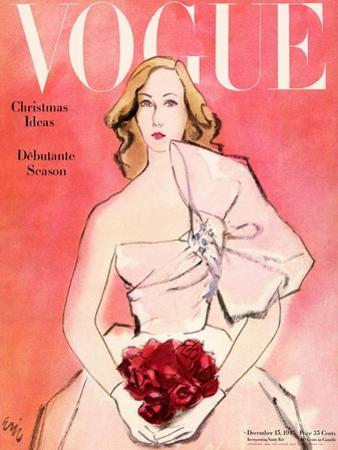Vogue Cover - December 1945 - Everthing's Coming Up Roses