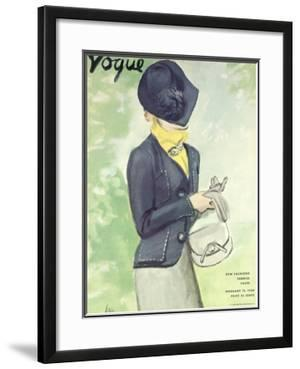 """Vogue Cover - February 1936 by Carl """"Eric"""" Erickson"""
