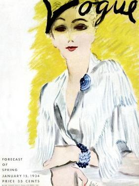 "Vogue Cover - January 1934 by Carl ""Eric"" Erickson"