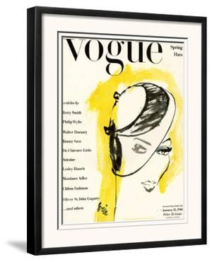 "Vogue Cover - January 1944 by Carl ""Eric"" Erickson"