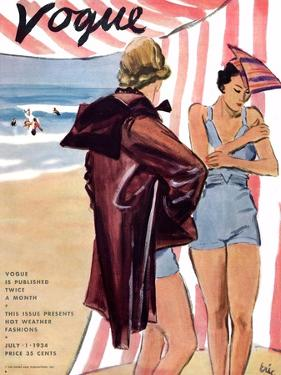 "Vogue Cover - July 1934 by Carl ""Eric"" Erickson"
