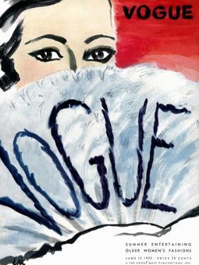 """Vogue Cover - June 1932 by Carl """"Eric"""" Erickson"""