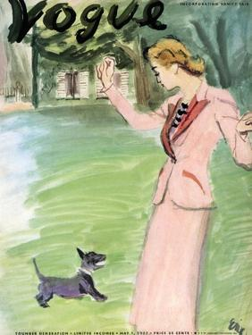 """Vogue Cover - May 1937 by Carl """"Eric"""" Erickson"""