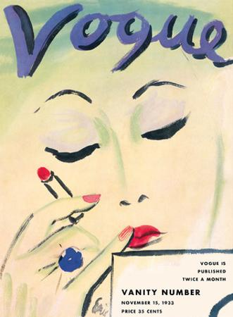 Vogue Cover - November 15, 1933 by Carl 'Eric' Erickson