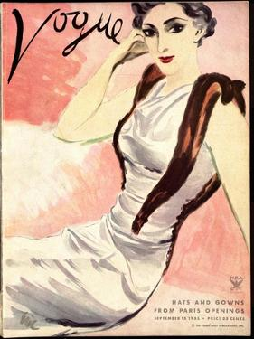 "Vogue Cover - September 1933 by Carl ""Eric"" Erickson"