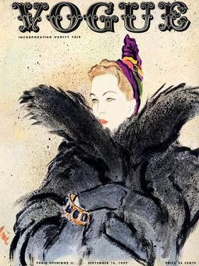 "Vogue Cover - September 1937 by Carl ""Eric"" Erickson"