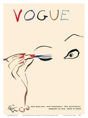Vogue Magazine Cover - February 15, 1935 by Carl Erickson