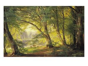 A Forest Glade by Carl Frederic Aagaard