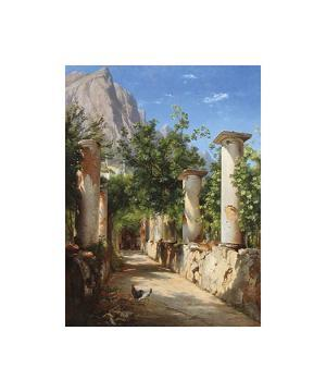 An Ancient Colonnade, Italy by Carl Frederic Aagaard