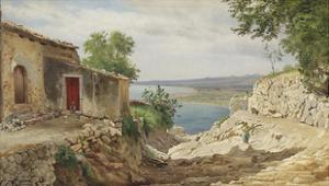 Coastal Landscape from Taormina on Sicily by Carl Frederic Aagaard