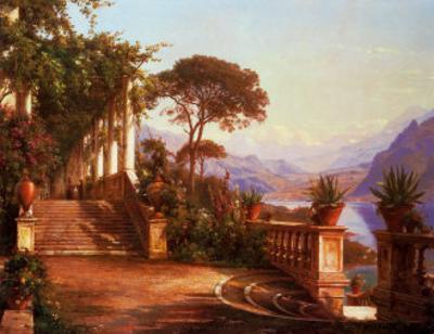 Lodge on Lake Como by Carl Frederic Aagaard