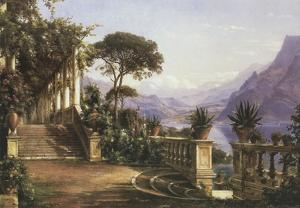 Lodge on Lake Como by Carl Frederic Aagaard