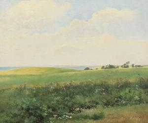 Summer Landscape with Rolling Fields by Carl Frederic Aagaard