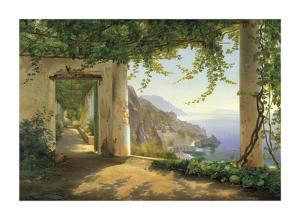 View to the Amalfi Coast by Carl Frederic Aagaard
