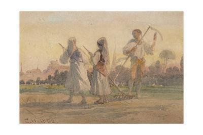 'Franconian Peasants near Wurzburg', Germany, 1852