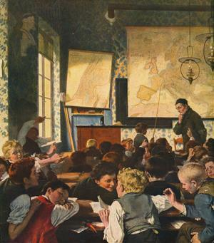 Classroom During Geography Lessons by Carl Hertel