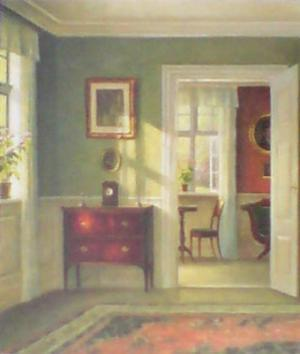 Sunny Interior by Carl Hilsoe