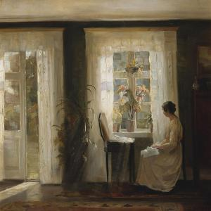 A Woman at a Sunny Window by Carl Holsoe