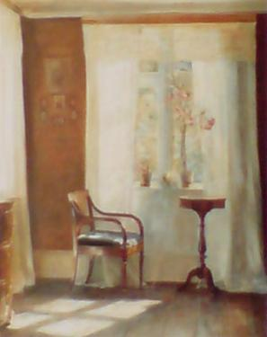 Interior with Window by Carl Holsoe