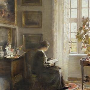 Reading by a Sunny Window by Carl Holsoe