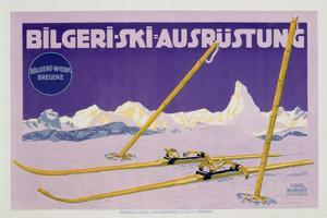 Advertisement for Skiing in Austria, C.1912 (Colour Litho) by Carl Kunst