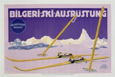 Advertisement for Skiing in Austria, C.1912 (Colour Litho)