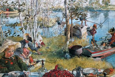 Crayfishing, 1897 by Carl Larsson