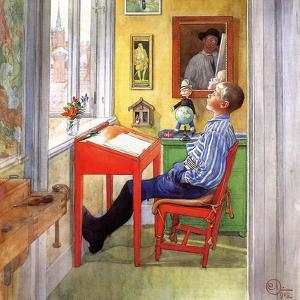 Esbjorn Doing His Homework, 1912 by Carl Larsson