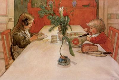 Evening Meal, 1905 by Carl Larsson