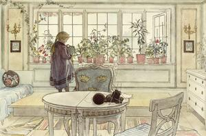Flowers on the Windowsill, from 'A Home' Series by Carl Larsson