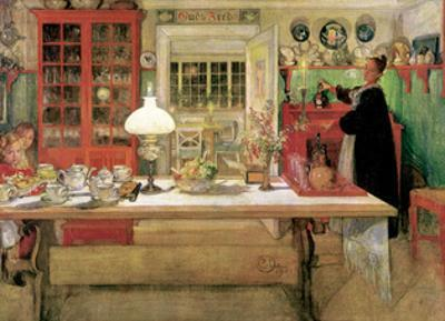 For a Little Card Party, 1901 by Carl Larsson