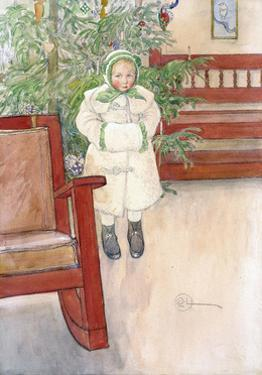 Girl and Rocking Chair, 1907 by Carl Larsson