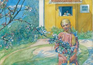 Girl with Apple Blossom, 1914 by Carl Larsson
