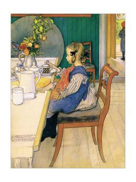 Late Riser's Breakfast by Carl Larsson