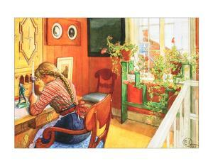Letter Writing by Carl Larsson