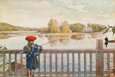 Lisbeth Fishing by Carl Larsson