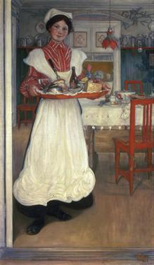 Martina Brings Breakfast by Carl Larsson