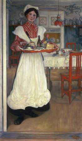 Martina Brings Breakfast by Carl Larsson