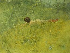 On the Grass; I Grongraset, 1902 by Carl Larsson