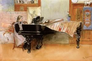Playing the Piano by Carl Larsson