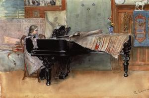 Suzanne at the Clavier' or 'The Scales' by Carl Larsson
