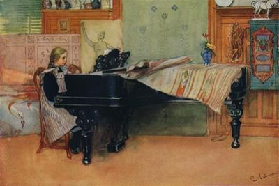 'Suzanne at the Piano', c1900 by Carl Larsson