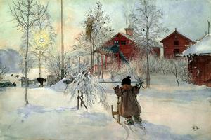The Farmhouse and Washhouse by Carl Larsson