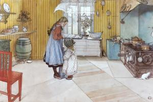 The Kitchen by Carl Larsson