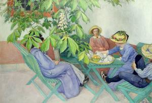 Under the Chestnut Tree, 1912 by Carl Larsson
