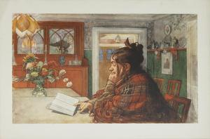 Woman Reading by Carl Larsson